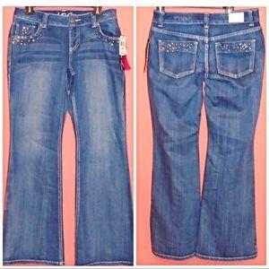 💎INC Denim Curvy Fit Jeweled Jeans Size 4 NWT💎